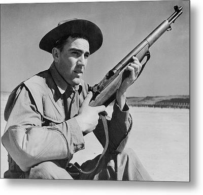 World War II, U.s. Soldier Ready Metal Print by Everett
