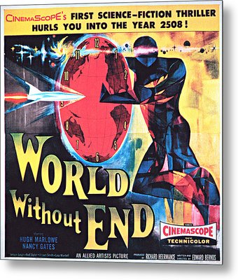 World Without End, Poster Art, 1956 Metal Print by Everett