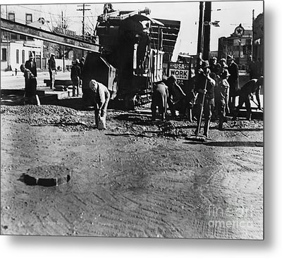 Wpa: Road Construction Metal Print by Granger