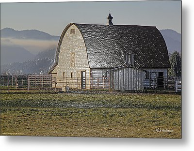 Wrapped Barn Metal Print by Mick Anderson