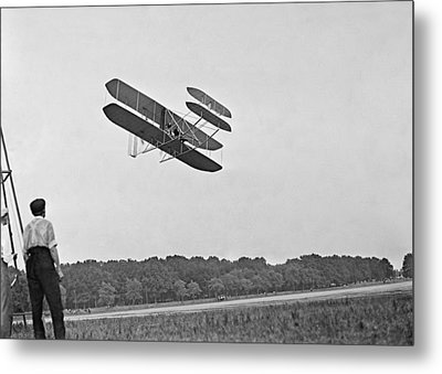 Wrights Airplane In Army Trial Flights Metal Print by Everett