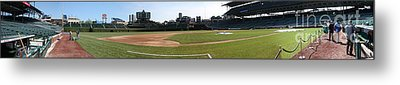 Wrigley Field Panorama Metal Print by David Bearden