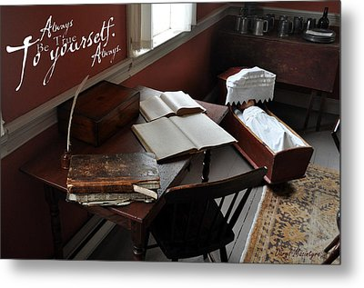 Writers Desk Metal Print by Daryl Macintyre