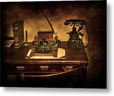 Writers Desk Metal Print by Svetlana Sewell