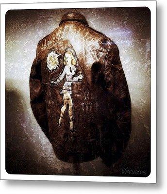 Ww2 B-17 Bomber Jacket mrs. Aldaflak Metal Print by Natasha Marco