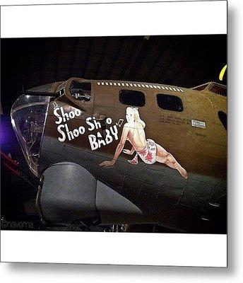 Ww2 Boeing B-17g Flying Fortress shoo Metal Print by Natasha Marco