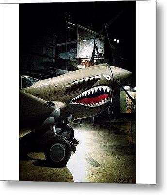 Ww2 Curtiss P-40e Warhawk Metal Print by Natasha Marco