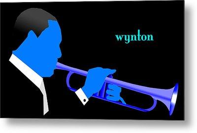 Wynton Marsalis Blue Metal Print