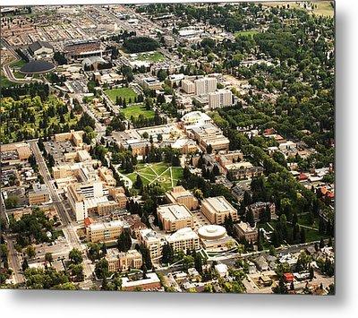 Wyoming Campus Aerial Metal Print by University of Wyoming