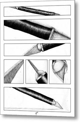 Xacto Knife Metal Print by Kenya Thompson