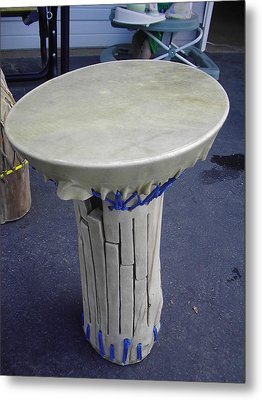 Xylophone Hand Drum Metal Print by Hunter Quarterman