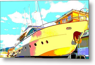 Yacht Dry Docking Metal Print