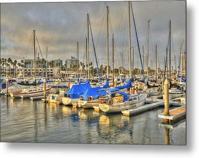 Yachts On A Lazy Afternoon Metal Print