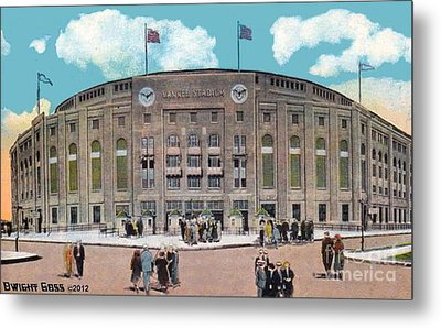 Yankee Stadium C.1930 Metal Print by Dwight Goss
