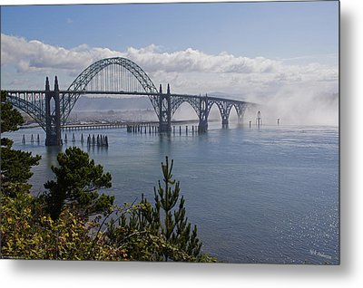 Metal Print featuring the photograph Yaquina Bay Bridge by Mick Anderson