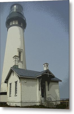 Yaquina Head Lighthouse Newport Oregon Metal Print by Glenna McRae