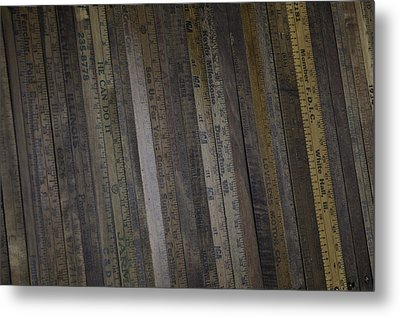Yardsticks - Aged 18 Inch Closer 1 Metal Print