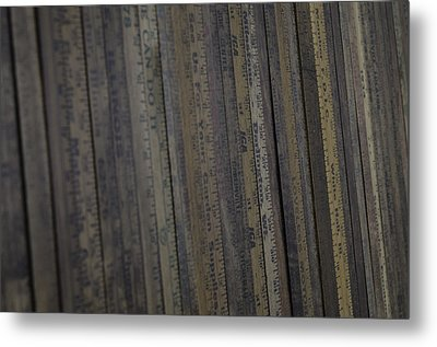 Yardsticks - Aged 18 Inch Closer 21 Metal Print