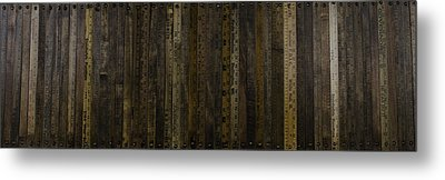Yardsticks - Aged 18 Inch Metal Print