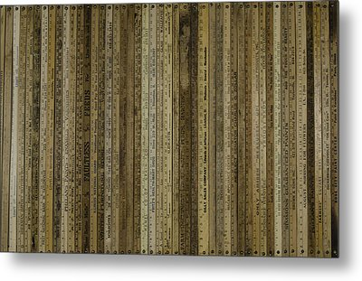Yardsticks - Tan Metal Print