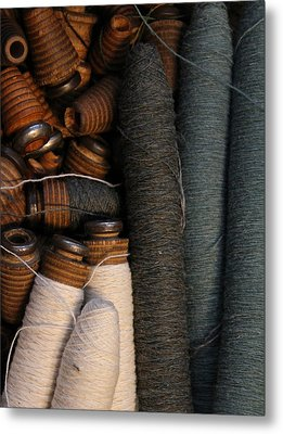 Yarn And Bobbins Metal Print by Odd Jeppesen