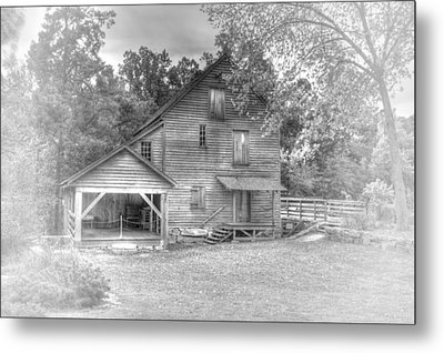 Yates Mill Black And White Metal Print by Joe Granita