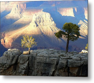 Metal Print featuring the photograph Yavapai Point Cliff Hangers by Scott Rackers