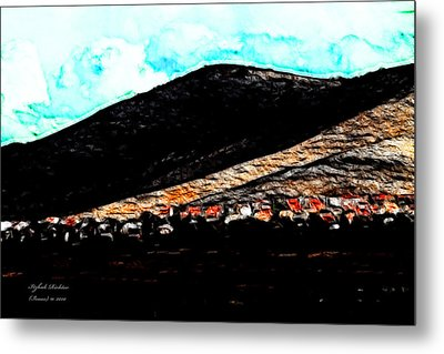 Metal Print featuring the photograph Ye Mountains Of Gilboa  by Itzhak Richter