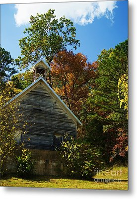 Metal Print featuring the photograph Ye Old Schoolhouse by Julie Clements