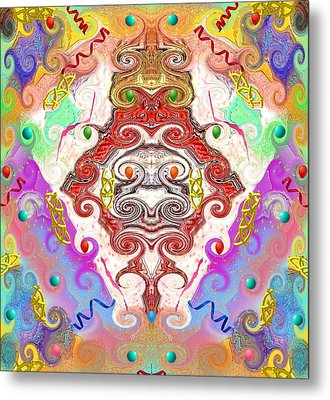 Metal Print featuring the digital art Year Of The Dragon by Alec Drake