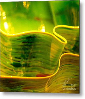 Metal Print featuring the photograph Yellow And Green by Artist and Photographer Laura Wrede