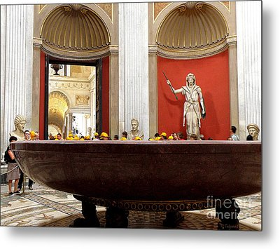 Metal Print featuring the photograph Yellow Caps In Vatican by Tanya  Searcy