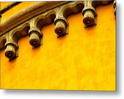 Yellow Castle Metal Print by Michael Cinnamond