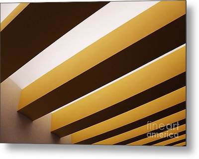 Yellow Ceiling Beams Metal Print by Jeremy Woodhouse