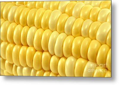Yellow Corn Macro Metal Print by Blink Images
