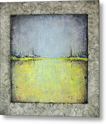 Metal Print featuring the painting Yellow Field by Lolita Bronzini