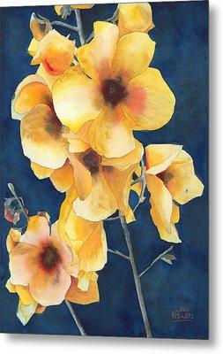 Yellow Flowers Metal Print by Ken Powers
