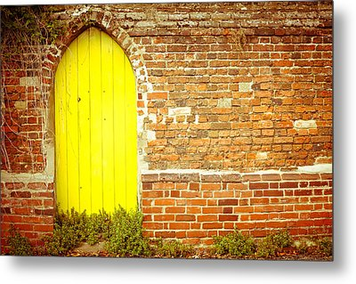Yellow Gateway Metal Print by Tom Gowanlock