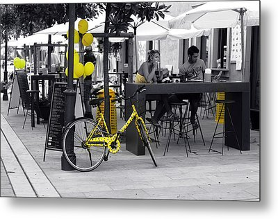 Yellow Metal Print by Graham Hawcroft pixsellpix