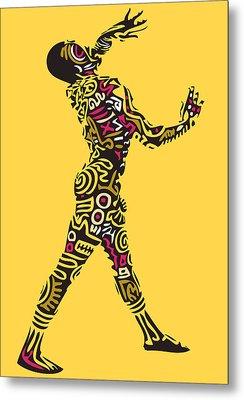 Yellow Haring Metal Print by Kamoni Khem