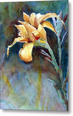 Yellow Iris Metal Print by Alan Smith