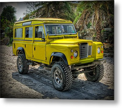 Yellow Jeep Metal Print by Adrian Evans
