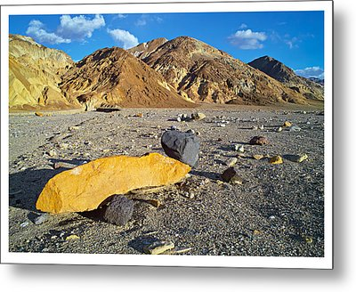 Yellow Rock At Death Valley Metal Print by Laurence Matson