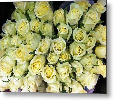 Yellow Roses Metal Print by Anna Villarreal Garbis