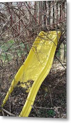 Yellow Slide Metal Print by Todd Sherlock