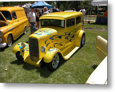Yellow Speed Metal Print by Mary M Collins