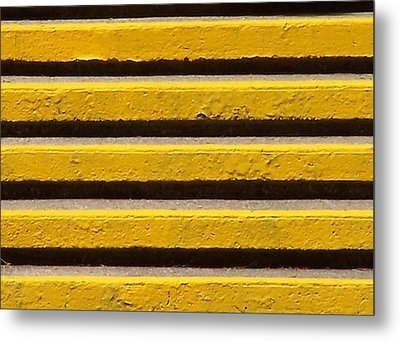 Yellow Steps Metal Print by Steven Huszar