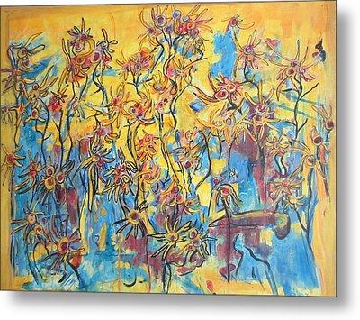 Yellows Singing The Blues Metal Print