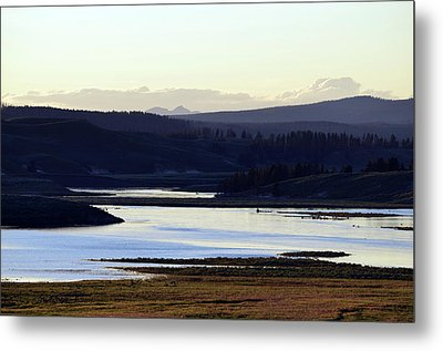 Yellowstone Landscapes Metal Print