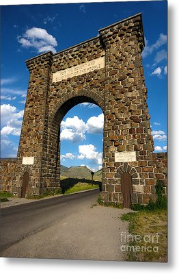 Yellowstone National Park Gate Metal Print by Gregory Dyer